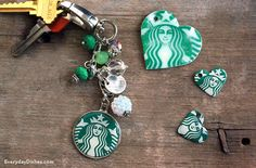 Moms will love our coffee shop keychain! A disposable cup, blank charms and dimensional glue make it easy!