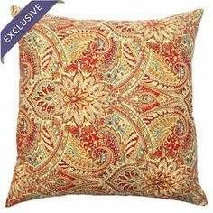 "Linen and cotton euro sham with a paisley motif. Made in the USA.  Product: Euro shamConstruction Material: Linen and cottonColor: MultiFeatures:  Made in the USAHidden zipper closure Dimensions: 26"" x 26""Note: Insert not includedCleaning and Care: Spot clean"