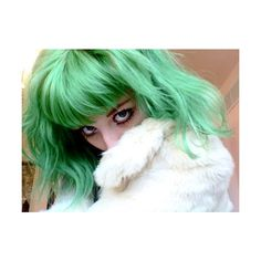 » Pastel Green Hair Hair Colors Ideas ❤ liked on Polyvore featuring accessories, hair accessories, people, hair, green hair, backgrounds, pictures and green hair accessories