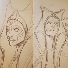 Star Wars Concept Art, Star Wars Fan Art, Star Wars Rebels, Star Wars Clone Wars, Best Star Wars Characters, Star Wars Drawings, Ahsoka Tano, Star War 3, Galaxy Art