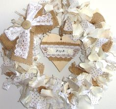 random remnants mothers day wreath