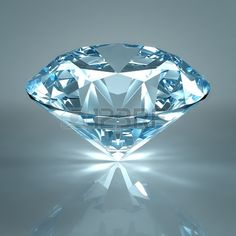 Picture of Diamond jewel isolated on light blue background. Beautiful sparkling diamond on a light reflective surface. High quality render with HDRI lighting and ray traced textures. stock photo, images and stock photography. Denim And Diamonds, Colored Diamonds, Blue Diamonds, Crystals And Gemstones, Stones And Crystals, Loose Gemstones, Diamond Wallpaper, Light Blue Background, Diamond Background