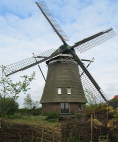 Polder mill De Slokop, Spaarndam-Oost, the Netherlands.