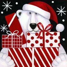 Diamond Painting Polar Bear Presents Kit Christmas Artwork, Christmas Paintings, Christmas Animals, Christmas Signs, Christmas Pictures, Winter Christmas, Vintage Christmas, Christmas Crafts, Christmas Decorations