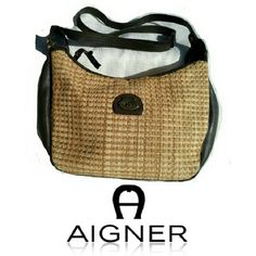 "ETIENNE AIGNER JUTE & LEATHER CROSSBODY BAG ETIENNE AIGNER STRAW & LEATHER CROSSBODY BAG Clean inside (last picture) One ZIP compartment inside Brass hardware  Adjustable shoulder strap total length 28"" W 12"" X L 8"" Very clean & Pretty Etienne Aigner Bags Crossbody Bags"