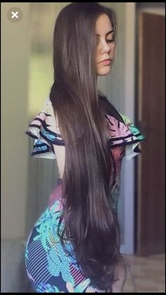 Beautiful Women with Super Long Hair - Bing Pretty Hairstyles, Straight Hairstyles, Girl Hairstyles, Long Brown Hair, Very Long Hair, Beautiful Long Hair, Gorgeous Hair, Beautiful Women, Natural Hair Styles