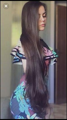 Beautiful Women with Super Long Hair - Bing Pretty Hairstyles, Straight Hairstyles, Girl Hairstyles, Long Brown Hair, Very Long Hair, Beautiful Long Hair, Gorgeous Hair, Beautiful Women, Hair Pictures