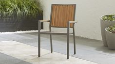 Alfresco II Natural Dining Arm Chair | Crate and Barrel