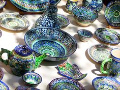 blue pottery of Fergana