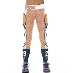 Women 3D prints Sporting Uniforms Leggings American NFL Sportswear Bodybuilding Pants