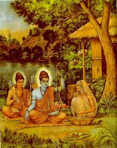 Rama and his brother Lakshmana.