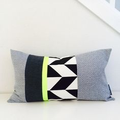 This design practically glows style with its fantastic and joyous mix of neon chartreuse yellow color blocked with 2 pieces of vintage fabric in