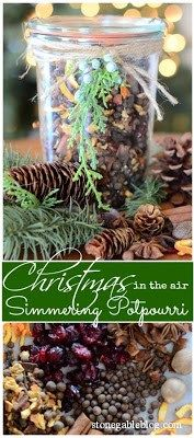 Christmas is in the air simmering potpourri Homemade Potpourri, Simmering Potpourri, Stove Top Potpourri, Potpourri Recipes, Simmering Water, Homemade Gifts, Christmas Scents, Christmas Gift Sets, All Things Christmas