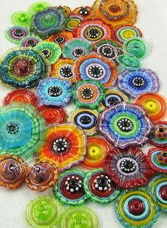 Glass Beads by Beth Williams - polyclay inspiration