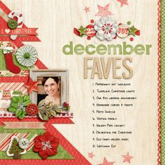Sweet Shoppe Designs::1 Page Layout Templates::FAVE-O-RITES 2013: December Faves by Nettio Designs