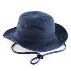Beechfield - Sombrero de safari   Excursionista Proteccion Factor 50+ Modelo  Outback Unisex Hombre Mujer - Verano calor (Talla Única Azul marino) dc9e0906e91