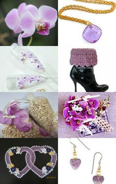 Sweet Orchids  curated by BonniesSewCrazy --Pinned with TreasuryPin.com