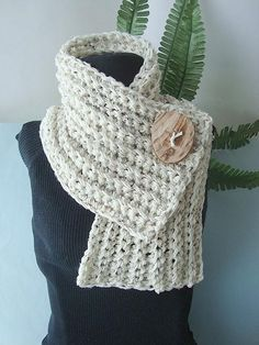 Crochet Pattern CHUNKY RIDGED COWL num 106 or Scarf by Carlitto, $4.99