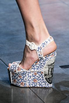 Shoe Porn at Dolce & Gabbana Spring Summer 2014 | MFW