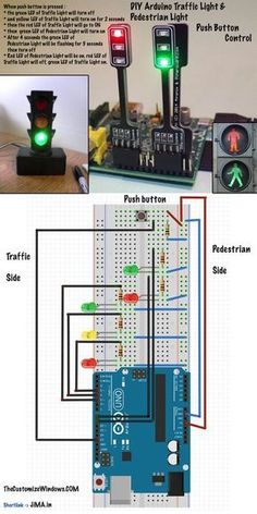 Upon pressing the button, the green LED of Traffic Light will turn off, yellow…