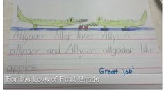 For the Love of First Grade: Awesome Alliterations in April and Instagram!