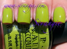 OPI - Who The Shrek Are You? Bahahahahaa I bought this and got a good laugh but like it okay after 3 or 4 coats!