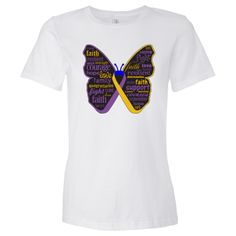 Get inspired with Bladder Cancer shirts, apparel and gifts featuring a whimsical butterfly ribbon #bladdercancer #bladdercancerawareness #bladdercancershirts