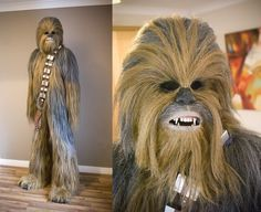 If you want to look like a Wookiee this Halloween, check out Doogie Fett's custom-made chewie costume. It looks completely authentic on every level, Chewbacca Costume, Bigfoot Sightings, Funny Halloween Costumes, Halloween Ideas, Party Rock, Silent Auction, Mythical Creatures, Good Movies