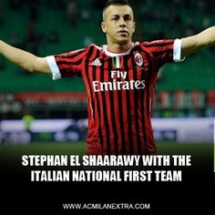 Stephen El Shaarawy with the Italian National first team.