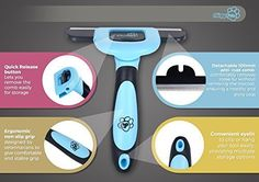 Chirpy Pets Dog and Cat Brush for Shedding    Over 1400 5-Star Reviews on Amazon - We're proud to be THE ONLY 5-star rated Dog & Cat Brush on Amazon!  REMOVE SHEDDING HAIR - Remove up to 90% of shedding fur from your cat or dog within minutes with this cat & dog brush deshedding tool. Simply comb gently over your dog or cats coat...Within seconds you will have a fistful of fur..And after 5 minutes you will be amazed at just how much loose hair has been removed.  ONE OF A KIND UNBREAKABLE…