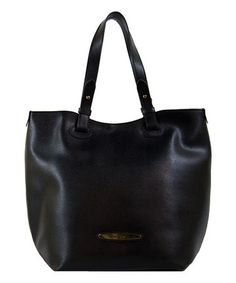 Love this Black Nero Leather Tote by Pierre Cardin on #zulily! #zulilyfinds