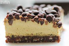 Pistachio Cream & Mint Chocolate Chip Dessert Bars (Gluten Free, Raw, & Vegan)