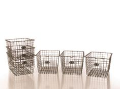 Organization Basket Set, Organization Products; Wire Container Set to Organize Office & Home