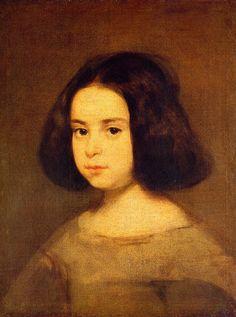 Portrait of a Little Girl, by Diego Rodríguez de Silva y Velázquez (Spanish, 1599-1660).