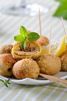 Baked Cheese Olives Appetizer Recipe