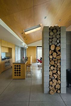 Fire wood wall