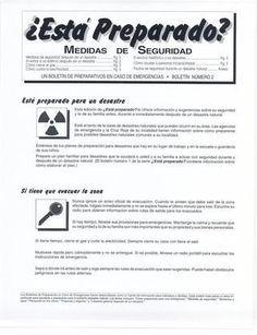 MEDIDAS DE SEGURIDAD ANTES, DURANTE Y DESPUÉS DE UN DESASTRE