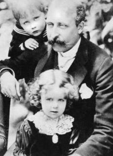 Princess Margaret of Connaught,later Crown Princess of Sweden with her brother and father