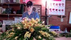 casket flowers - YouTube