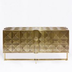 SG IV Laiton | Erwan Boulloud | Designer • Sculpteur Contemporary Furniture, Luxury Furniture, Cool Furniture, Furniture Design, Console Table Styling, Buffet, Sideboard Furniture, Modern Art Deco, Dining Room Design