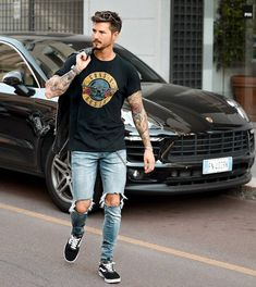 133 coolest summer outfit ideas for men Stylish Mens Outfits, Casual Outfits, Men Casual, Casual Styles, Vans Outfit Men, Vans Old Skool Outfit, Vans Old Skool Mens, Urban Fashion, Mens Fashion