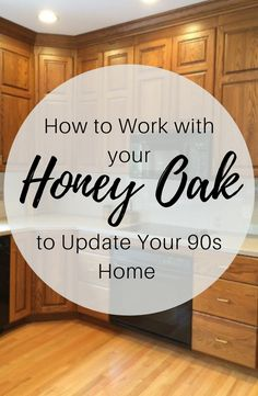 Updating Oak Cabinets, Oak Kitchen Cabinets, Bathroom With Oak Cabinets, Oak Kitchens, Painting Oak Cabinets, Kitchen Flooring, Oak Kitchen Remodel, Kitchen Redo, Kitchen Makeovers