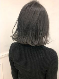 Ash Green Hair Color, Trendy Hairstyles, Bob Hairstyles, Shot Hair Styles, Long Hair Styles, Matted Hair, Hair Reference, Colored Highlights, Aesthetic Hair