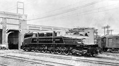 Here is a photograph showing the Pennsylvania Railroad GG1 #4800 in her very first paint scheme numbered as the 4899 sometime in the Fall of 1934.