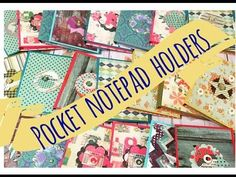 Craft Fair Idea Pocket Notepad Holders (with tutorial) 2015 Craft Fair Ideas To Sell, Craft Show Ideas, Crafts To Sell, Quick Crafts, Fun Crafts, Paper Crafts, Fair Projects, Craft Projects, Dyi