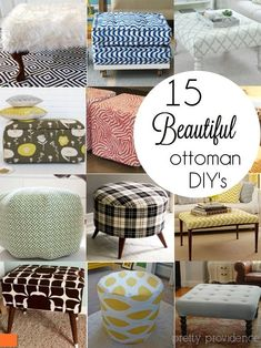I am obsessed with these DIY ottoman ideas! Way cuter than super expensive ones you see in the stores. The trouble is.. which one to make?? #buildottomanideas
