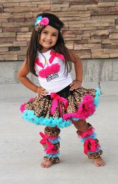 SET- Q-dee Cheetah Cupcake Pettiskirt Set. Oh em gee she's adorable