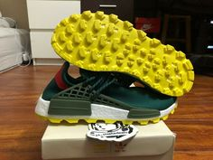 adidas NMD Pharell Williams Human Race Nerd Green Sz 10 DS 100 Authentic for sale online Adidas Yeezy 350 V2, Adidas Nmd, Kanye West Style, Vintage Adidas, Adidas Originals Mens, Men S Shoes, Ds, Sneakers Fashion, Nerd