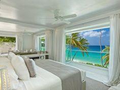 Beachfront modern villa in St James, Barbados.