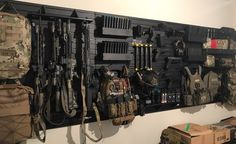You are in the right place about Hunting Room man cave Here we offer you the most beautiful pictures Weapon Storage, Gun Storage, Tactical Wall, Tactical Gear, Weapons Guns, Guns And Ammo, Hidden Gun Rooms, Airsoft, Gun Safe Room
